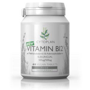 Cytoplan B12 vitamiin (metüülkobalamiin & adenosüülkobalamiin), 60 keelealust tabletti