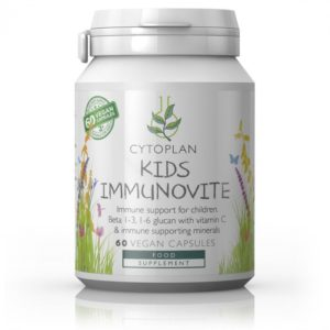 Cytoplan Kid's Immunovite- immuunsust toetav toidulisand lastele, 60 kapslit