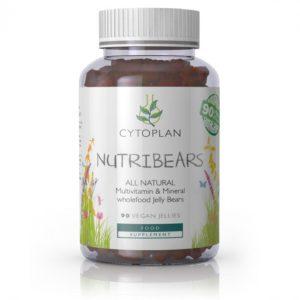 Cytoplan Nutri Bears, looduslikud vitamiinid ja mineraalid lastele, 90 karukest
