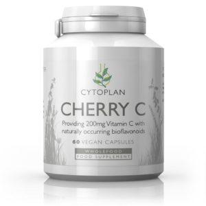 Cytoplan Cherry C – looduslik C vitamiin acerola kirsi marjadest, 200mg, 60 kapslit