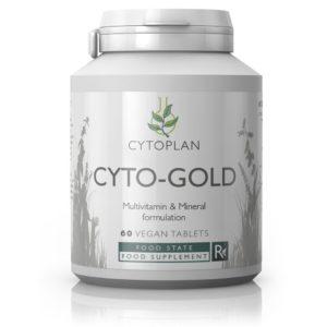 TÄISVÄÄRTUSLIK MULTIVITAMIINIDE JA MINERAALIDE KOMPLEKS, Cytoplan Cyto-Gold, 60 tabletti