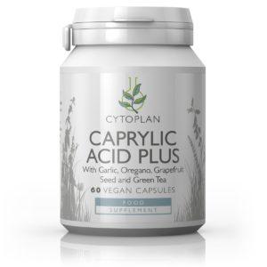 Cytoplan Caprylic Acid Plus soodustab mikroobidest ja seenhaigustest vabanemist, 60 kapslit