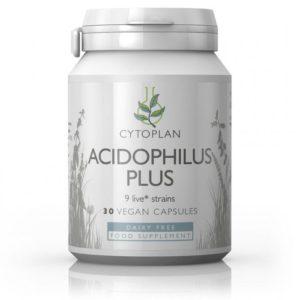 Cytoplan Acidophilus Plus – probiootikum kuni 40.a. vanustele, 60 kapslit