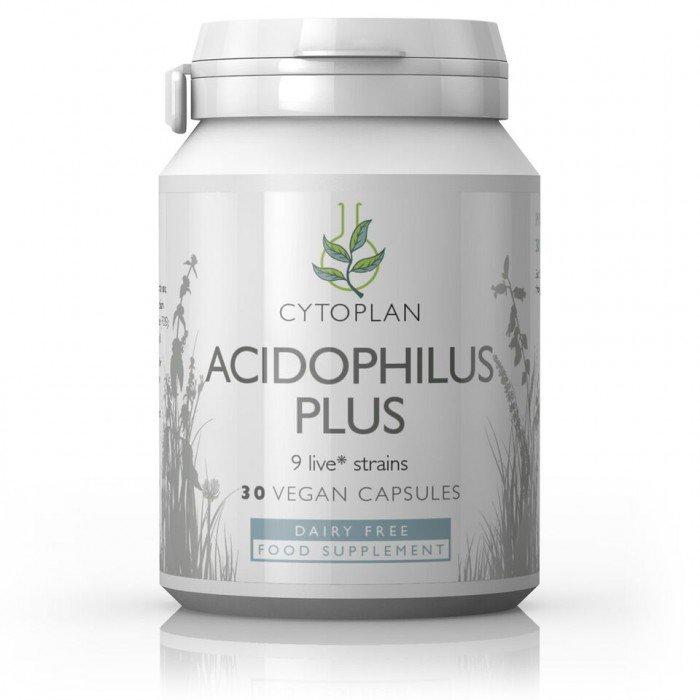 Cytoplan Acidophilus Plus – probiootikum kuni 40.a. vanustele, 30 kapslit