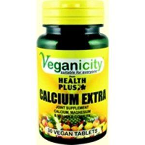Veganicity Calcium Extra – kaltsiumi toidulisand magneesiumi ja D vitamiiniga, 30 tabletti