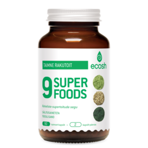 9 SUPER FOODS – SUPER GREENS, Ecosh Life, 90 kapslit