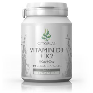 VITAMIINID K2 JA D3, Cytoplan Vitamin K2 and D3, 60 kapslit