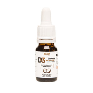 D3 VITAMIIN KOOKOSÕLIGA 10 000 IU, Ecosh Life Vitamin D3 10 000 IU with coconut oil, 10ml