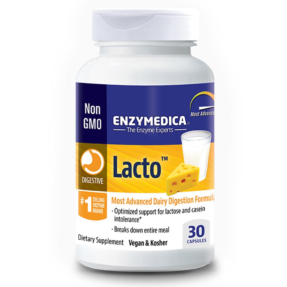 Enzymedica LACTO™ (seedeensüümid laktoositalumatuse korral), 30 kapslit