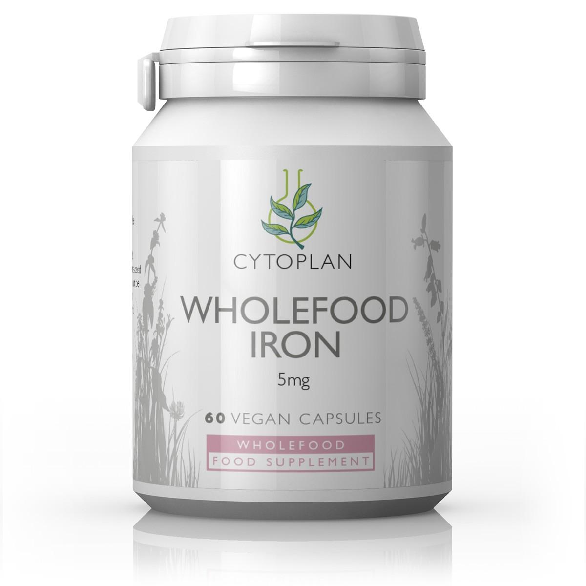 Cytoplan Wholefood Iron, raud taimsest allikast, 60 tabletti