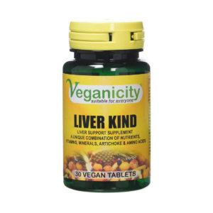 MAKSA PUHASTAMISEKS, Veganicity Liver Kind, 30 kapslit