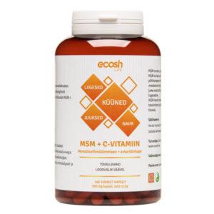 MSM + C VITAMIIN, Ecosh Life MSM + Vitamin C, 160 kapslit