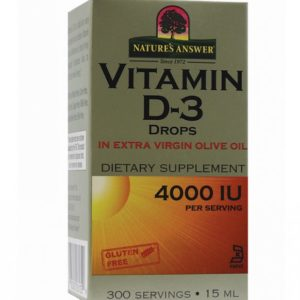 VITAMIIN D3 4000IU, Nature's Answer D3 Vitamin 4000 IU, 15ml