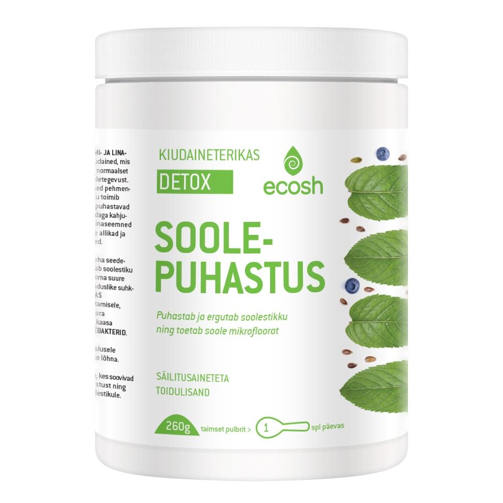 Ecosh Life Detox soolepuhastus, 260 g taimset pulbrit