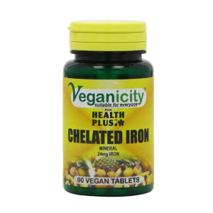 Veganicity Chelated Iron 24mg, kelaatne raud, 90 tabletti