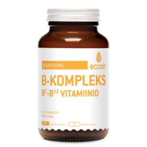 BIOAKTIIVNE B-KOMPLEKS, Ecosh Life Bioactive B complex, 90 kapslit