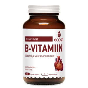 BIOAKTIIVNE B-VITAMIIN SÜDAMELE, Ecosh Life Bioactive vitamin B for the heart + 100% energy, 90 kapslit