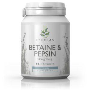 Cytoplan Betaine&Pepsin, betaiin&pepsiin, 60 kapslit