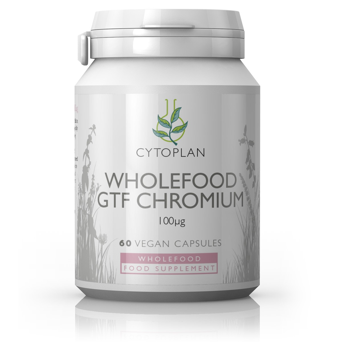 Cytoplan Wholefood GTF Chromium, kroom, 60 vegan kapslit