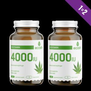 D3-VITAMIIN 4000 IU, Ecosh Life D3 Vitamin 4000 IU, 90 kapslit