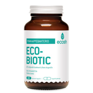 PROBIOOTIKUM 12 BAKTERITÜVEGA, Ecosh Life Ecobiotic with 12 bacterial strains, 40 kapslit