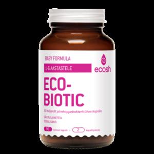 Ecosh Life ECOBIOTIC Baby Formula, probiootikum väikelastele (0-6.a.) 90 kapslit