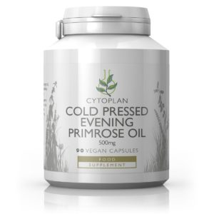 Cytoplan Cold Pressed Evening Primrose oil 500 mg, külmpressitud kuningakepiõli, 90 vegan kapslit
