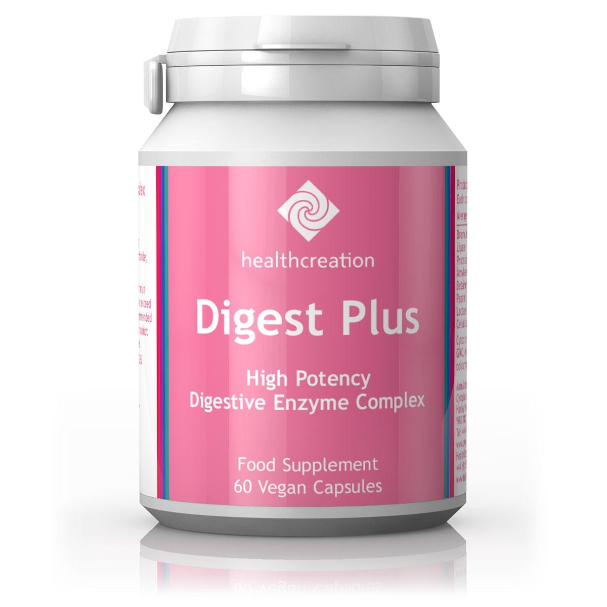 Health Creation Digest Plus – tõhus ensüümide kompleks, 60 kapslit