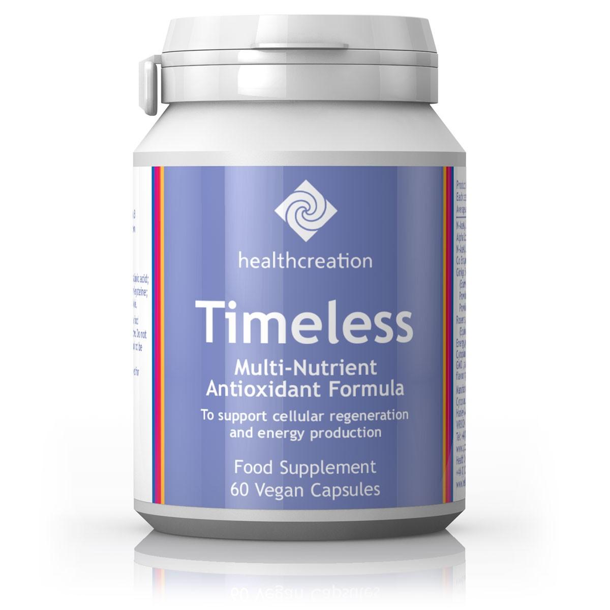 Health Creation Timeless – soodustab rakkude uuenemist ja ainevahetuse aktiveerumist, 60 kapslit