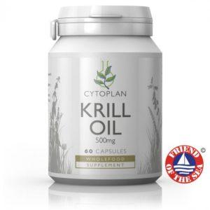 Cytoplan Krill Oil – krilli (ehk hiigevähi) õli, 60 kapslit