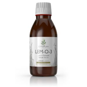 Cytoplan Lem-O-3 sidrunimaitseline Oomega 3 kalaõli, 200ml