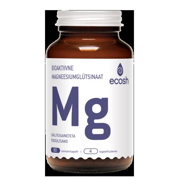 Ecosh Life Magneesium glütsinaat, 90 kapslit, toidulisand