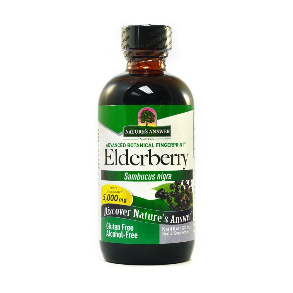 Nature's Answer Elder Berry, Leedrimarja vedel tõmmis, 120 ml, alkoholita