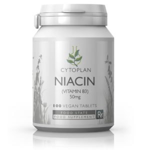 NIATSIIN ehk VITAMIIN B3, Cytoplan Niacin, 100 tabletti