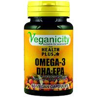 Veganicity Omega 3 DHA: EPA 500mg, 60 kapslit