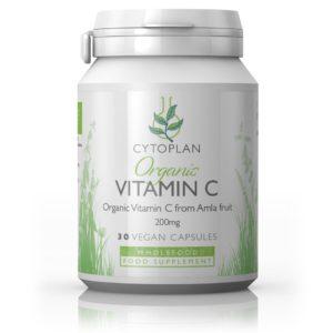 Cytoplan Organic Vitamin C 200mg, 30 kapslit