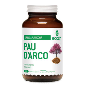 SIPELGAPUU KOOR, Ecosh Life Pau D'Arco, 100 kapslit