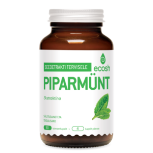 PIPARMÜNDI LEHE EKSTRAKT, Ecosh Life Peppermint leaf extract, 90 kapslit
