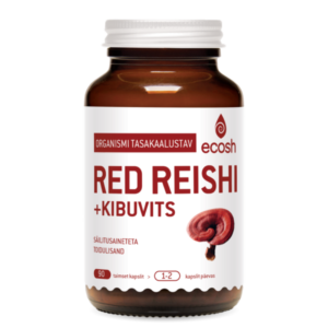 GANODERMA (Red Reishi + kibuvits), Ecosh Life Ganoderma + rose hip, 90 kapslit