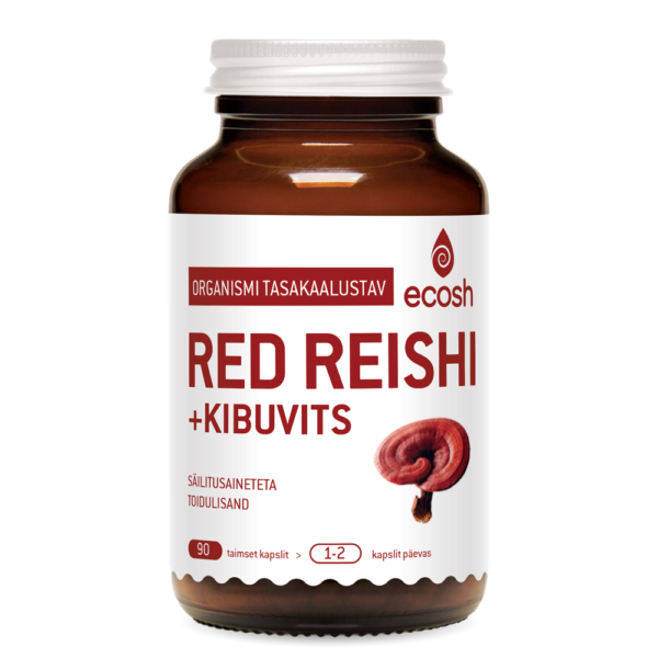 Ecosh Life, GANODERMA (Red Reishi + kibuvits), 90 kapslit