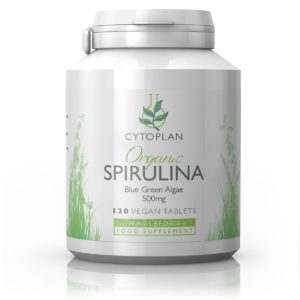 Cytoplan Organic Spirulina, orgaaniline spirulina, 120 tabletti