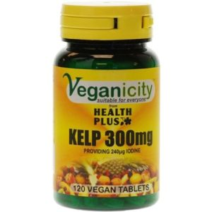 Veganicity Kelp 300mg, pruunvetikas, 120 tabletti