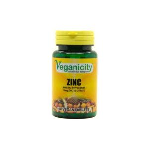 Veganicity Zinc 10mg, Tsink Tsitraat, 90 Kapslit