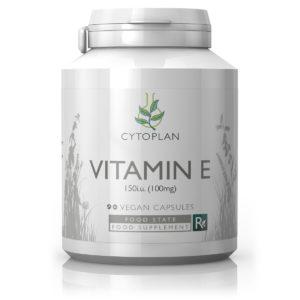 Cytoplan Vitamin E 150i.u., 90 vegan kapslit