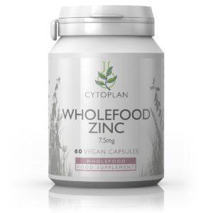 TSINK, Cytoplan Wholefood Zinc, 60 kapslit