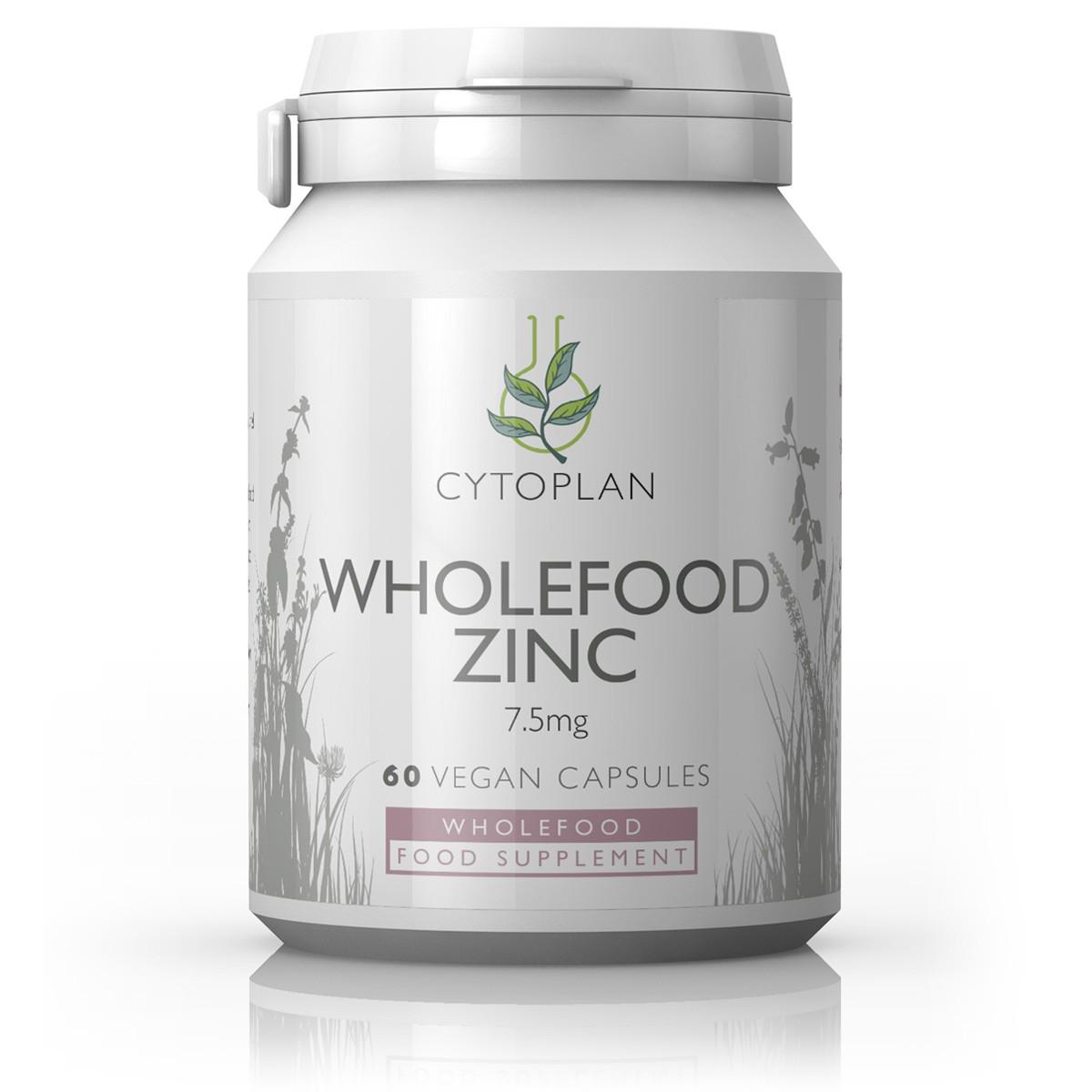 Cytoplan Wholefood Zinc, tsink, 60 vegan kapslit