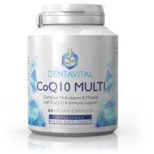 MULTIVITAMIINIDE JA MINERAALIDE KOMPLEKS + CoQ10, Dentavital CoQ10 Complete Multivitamine and Mineral, 60 kapslit