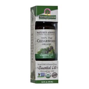 Nature's Answer Organic Cedarwood oil, Orgaaniline Seedripuu eeterlik õli 15ml