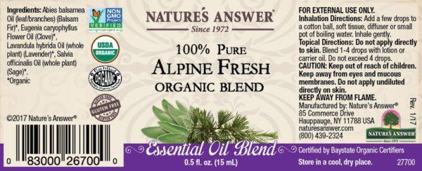 Orgaaniline Alpivärskuse eeterlik õli