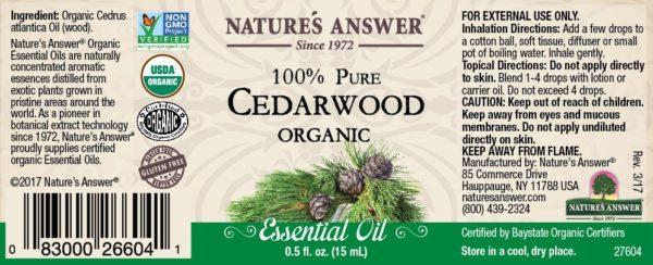 Orgaaniline Seedripuu eeterlik õli